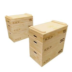 Jerk Block RAW SET Scatole Plyo in legno per allenamento