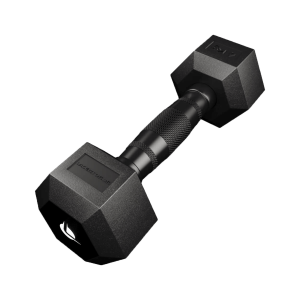PRO HEX Rubber Dumbbell 4 Kg Hexagonal Dumbbells Lacertosus