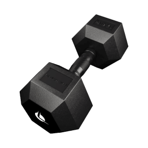 PRO HEX Rubber Dumbbell 17.5 Kg Hexagonal Dumbbells Lacertosus
