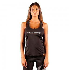 Women's Tank Top S Black Donna abbigliamento fitness Lacertosus